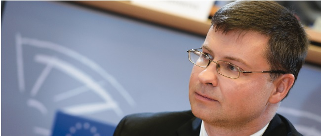 valdis dombrovskis in the european parliament