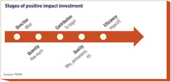 stages of positive impact investment
