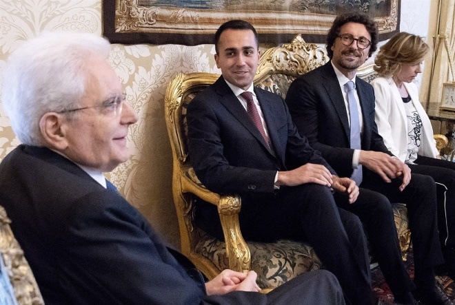 President Mattarella meets Five Star Movement