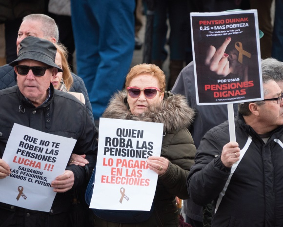 march saw demonstrations across spain demanding fairer pensions