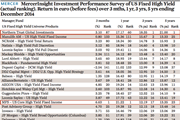 MercerInsight Investment Performance Survey of US Fixed High Yield