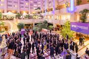 Guests gather in the lobby of the Hilton Prague Hotel prior to the IPE Awards dinner