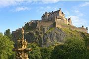Edinburgh Castle, Scotland, from Princes Street Gardens