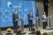 Dombrovskis and Goranov at ECOFIN press conference