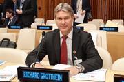 Richard Grottheim at the UN GISD launch