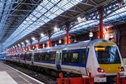 A train awaits to leave Paddington Station