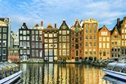 Traditional houses of Amsterdam, Netherlands
