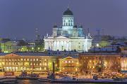 Winter night in Helsinki, Finland