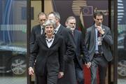 Theresa May leaves European Council meeting