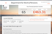 Pension dashboard
