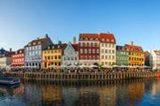 The Nyhavn district in Copenhagen, Denmark