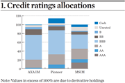 Credit ratings allocations
