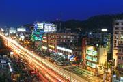 The city of Guwahati in Assam, India