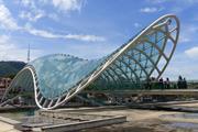 The Bridge of Peace in Tbilisi, Georgia