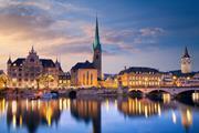 Sunset in Zurich, Switzerland