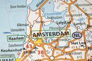 A map of Amsterdam, the Netherlands