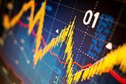 Stock market index graphs