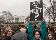 students demonstrating in washington dc in march against the governments inaction on gun control