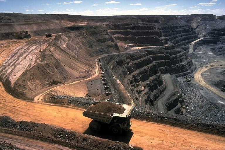 Strip coal mining
