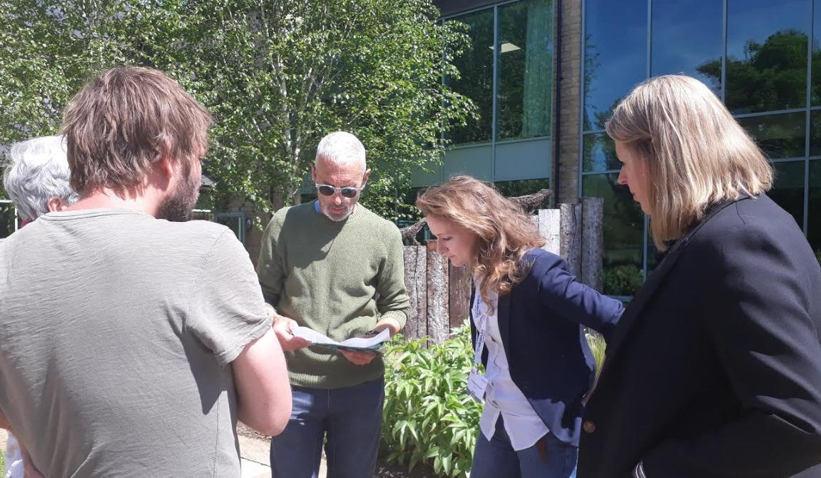 Extinction Rebellion campaigners meet with the PLSA's Caroline Escott at the Local Authority Conference