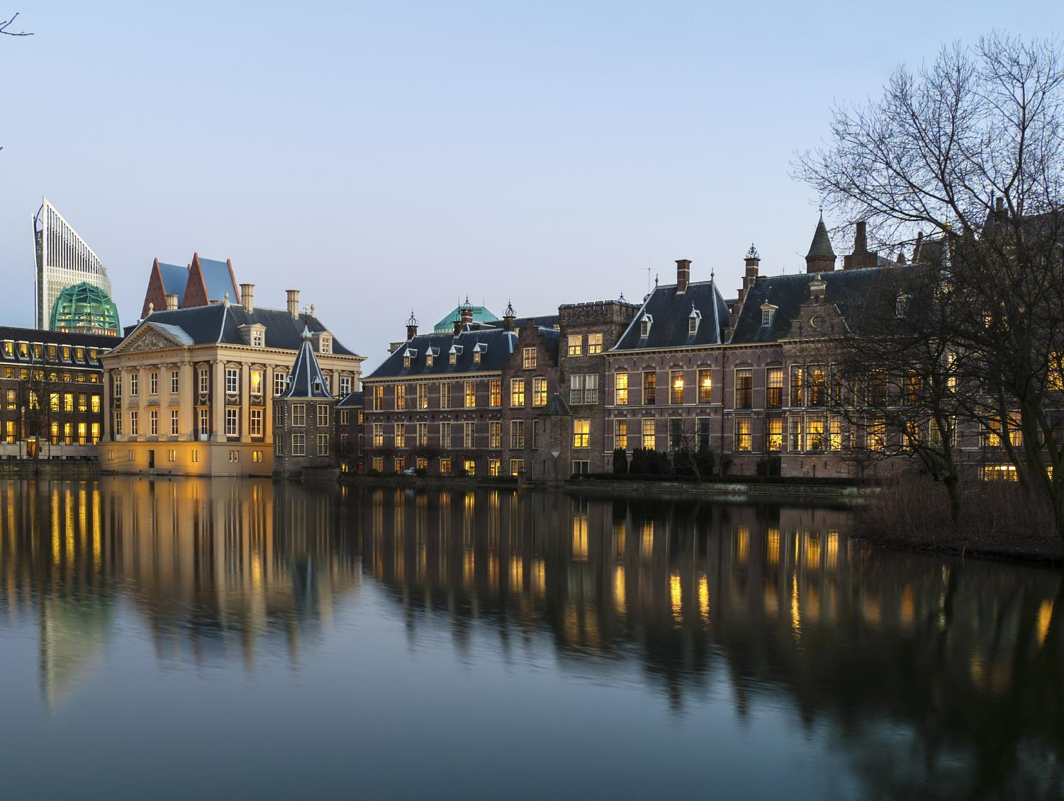 Dutch Parliament buildings in the Hague, the Netherlands