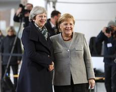Theresa May, Angela Merkel