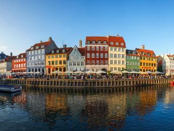 The Nyhavn district in Copenhagen, Denmark
