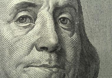 Close-up of a 100-dollar bill