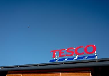 Tesco supermarket signage