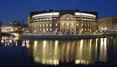 sweden riksdag outside