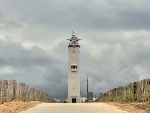 A lighthouse in Noordwijk, the Netherlands