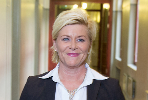 Siv Jensen, Norway finance minister