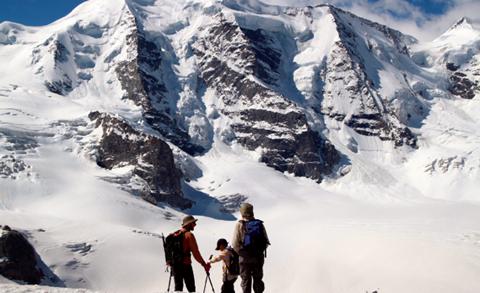 Switzerland Skiing View