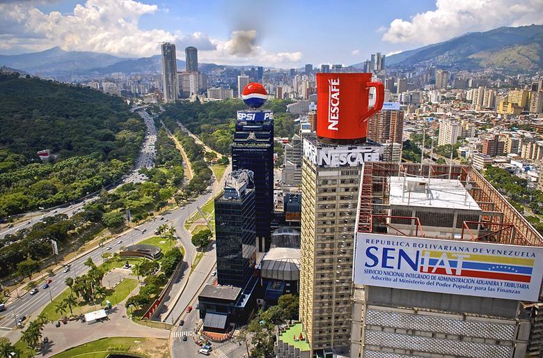 Aerial view Caracas Venezuela