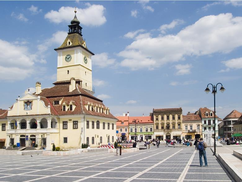 Town hall in Brasov, Romania