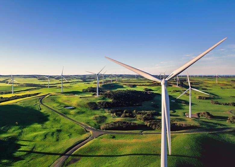 Bald Hills wind farm in Victoria, Australia