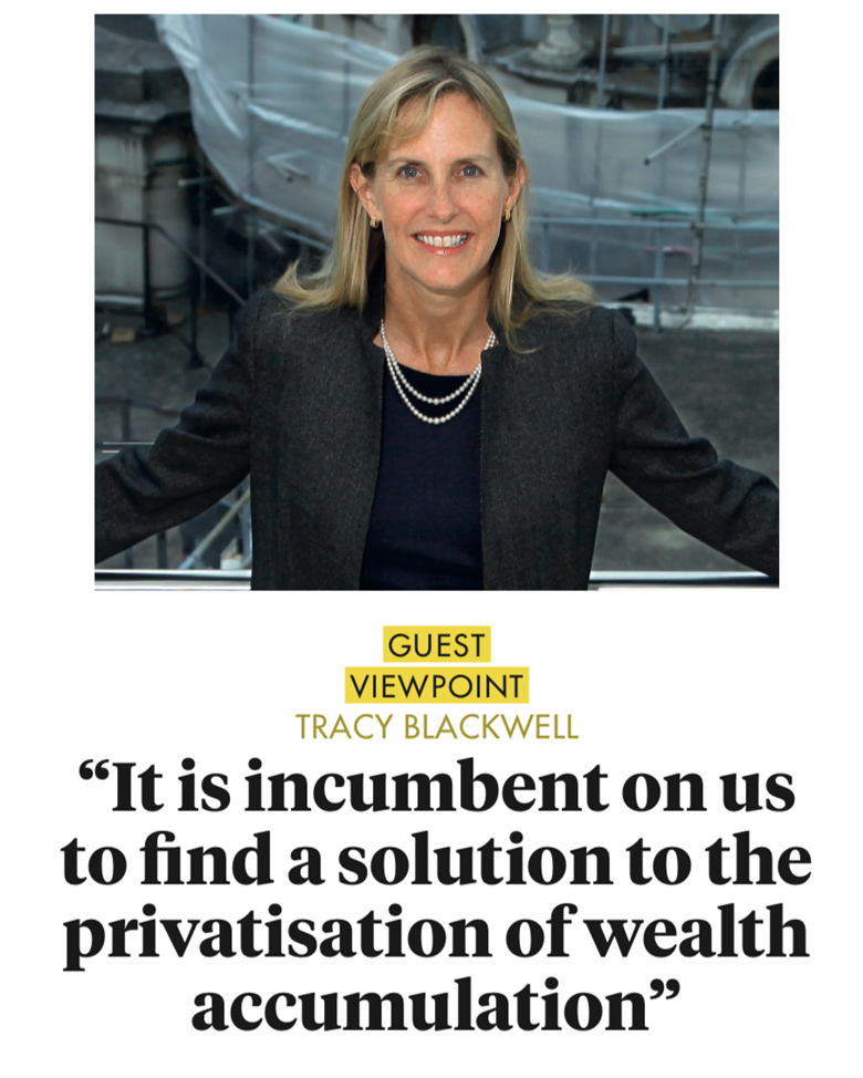 it is incumbent on us to find a solution to the privatisation of wealth accumulation